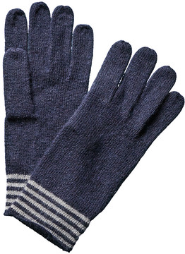 Portolano Men's Minerva Navy Angora & Wool-Blend Gloves