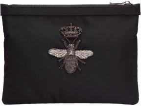Dolce & Gabbana Black Crown Bee Pouch