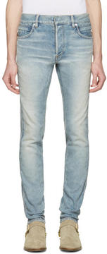 Balmain Blue Ribbed Jeans
