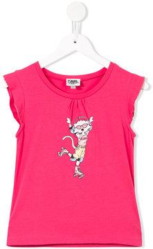 Karl Lagerfeld cat print T-shirt