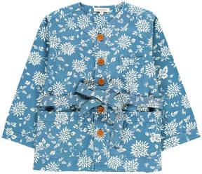 Caramel Kale Floral Kimono Jacket