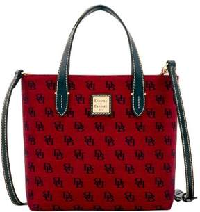 Dooney & Bourke Madison Signature Mini Waverly Top Handle Bag - CRANBERRY - STYLE