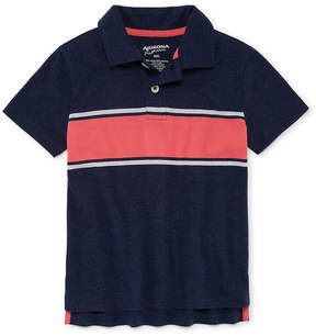 Arizona Short Sleeve Stripe Knit Polo Shirt -Boys 4-20