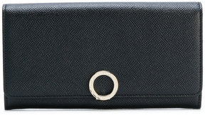 Bulgari wallet with logo closure clip