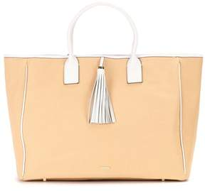 Melissa Odabash Barbados cotton and leather tote
