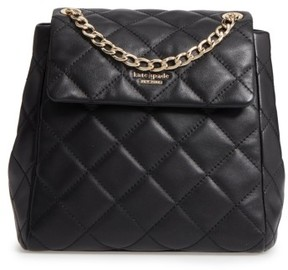 Kate Spade Emerson Place - Martina Quilted Leather Backpack - Black - BLACK - STYLE