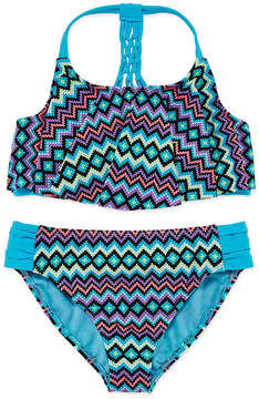Arizona Girls Chevron Bikini Set - Big Kid