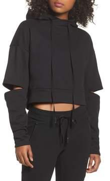 Alo Peak Cutout Long Sleeve Pullover Crop Hoodie