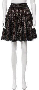 Alaia Wool Laser Cut Skirt