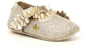 MICHAEL Michael Kors Baby Ruff Glitter and Metallic Ballet Flats