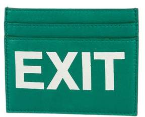 Vetements 2018 Exit Lambskin Cardholder w/ Tags