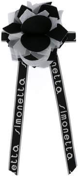 Simonetta logo print rosette