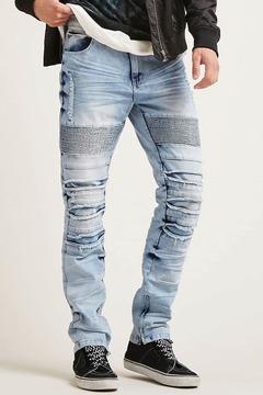 21men 21 MEN Victorious Moto Jeans
