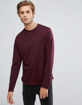 New Look Long Sleeved Top In Burgundy