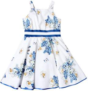 MonnaLisa Floral Printed Cotton Seersucker Dress