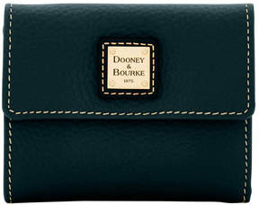 Dooney & Bourke Pebble Grain Small Flap Wallet - BLACK BLACK - STYLE