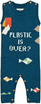 Bobo Choses Blue Plastic is Over? Intarsia Romper