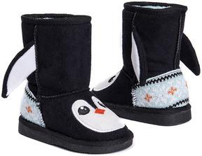 Muk Luks Ebony & White Penguin Boot - Kids