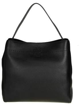 Tory Burch Bag Mcgraw Hobo Leather Black - BLACK - STYLE