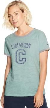 Champion Women's Heritage Vintage Ringer Graphic Tee