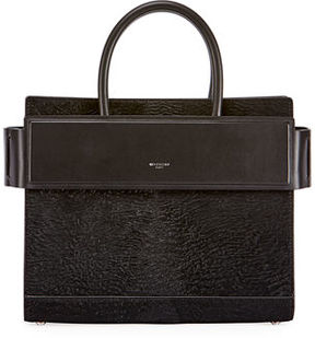 Givenchy Horizon Small Astrakhan-Embossed Leather Satchel Bag