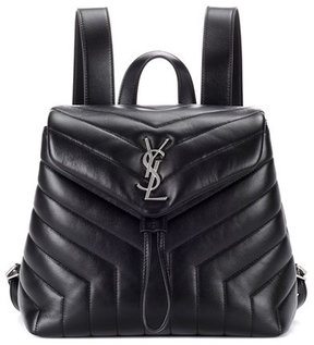 Saint Laurent Small Loulou leather backpack - BLACK - STYLE