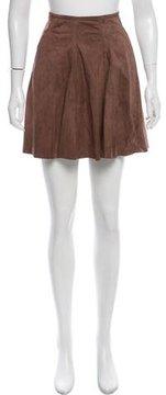 Brunello Cucinelli Suede Mini Skirt