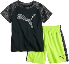Puma Boys 4-7 Logo Performance Tee & Shorts Set