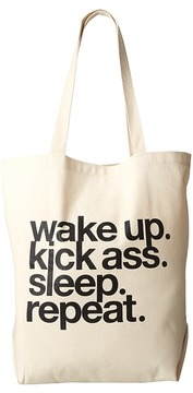 Dogeared - Wake Up. Kick Ass. Sleep. Repeat. Tote Tote Handbags