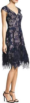 David Meister Women's Floral Feather Dress