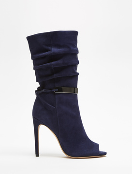 Halston Kendall Suede Mid-Calf Boots