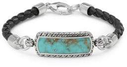 Effy Men's Leather & Sterling Silver Bracelet