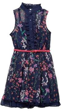 Beautees Belted Floral Dress (Big Girls)
