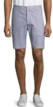 Black & Brown Black Brown Cotton Seersucker Shorts