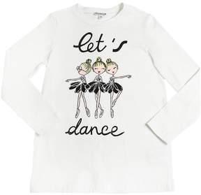 Simonetta Dancers Print Cotton Jersey T-Shirt