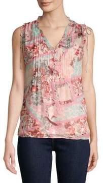 Daniel Rainn Floral Short-Sleeve Top