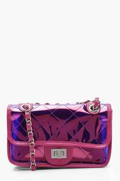 boohoo Pink Quilted Cross Body