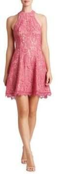 Dress the Population Halterneck Lace Dress