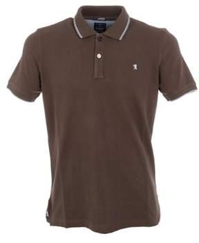 Jaggy Men's Brown Cotton Polo Shirt.
