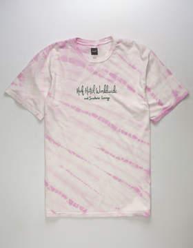 HUF Poolside Pink Mens T-Shirt