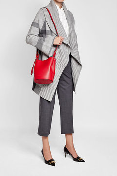 Burberry Small Leather Shoulder Bag - RED - STYLE