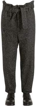 Damir Doma 18cm Oversize Striped Wool Blend Pants