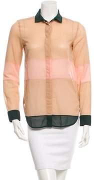 Celine Sheer Button-Up Top