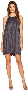 Bishop + Young Suede High Neck Shift Women's Dress