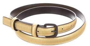 Bottega Veneta Metallic Leather Belt