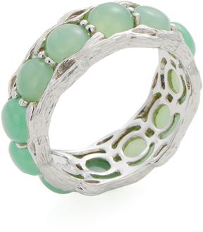 Elizabeth Showers Women's Silver & Chrysoprase Birds Nest Ring