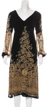 Anna Sui Velvet Midi Dress