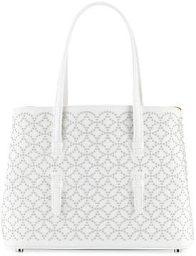 Alaia Studded Mini Tote Bag, White