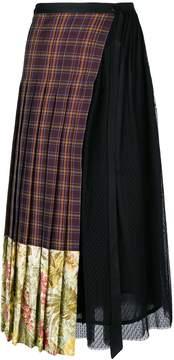 Antonio Marras asymmetric tartan skirt