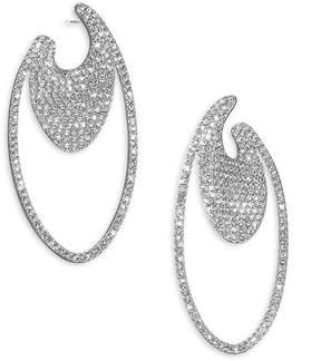 Adriana Orsini Women's Pavé Oval Hoop Earrings